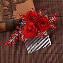 baratos Acessórios de Cabelo-Liga Pentes de cabelo com Perola Imitação 1pç Casamento / Ocasião Especial Capacete