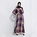 tanie Breloki-Arabska sukienka Abaya Sukienka kaftan Jalabiya Damskie Moda Festiwal/Święto Stroje Niebieski Drukowanie