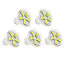 cheap LED Bulbs-5pcs 3W 350lm MR11 LED Spotlight MR11 15 LED Beads SMD 5730 Decorative Warm White Cold White 12V