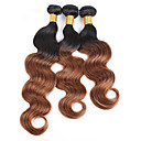 tanie Dopinki ombre-3 zestawy Włosy brazylijskie Body wave Włosy virgin Fale w naturalnym kolorze 8-30 in Natura Czarny Ludzkie włosy wyplata Gorąca wyprzedaż / Nie przelewa się / Podwójna osnowa Ludzkich włosów
