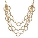 preiswerte Nagel-Funkeln-Damen Ketten / Layered Ketten - Modisch, überdimensional Gold, Silber Modische Halsketten Schmuck 1 Für Alltag, Arbeit