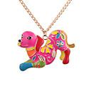 זול שרשרת אופנתית-בגדי ריקוד נשים שרשראות תליון - כלבים נשים, ארופאי, אתני, צבעוני זהב שרשראות תכשיטים עבור יומי