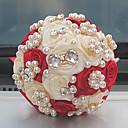 """זול מזכרות מחזיקי מפתחות-פרחי חתונה זרים חתונה שזירה קריסטל/אבן ריין מֶשִׁי 9.06""""(לערך.23ס""""מ)"""