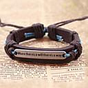 cheap Men's Bracelets-Men's Vintage Bracelet Leather Bracelet - Leather Retro / Vintage, Inspirational Bracelet Coffee For Gift Daily Casual