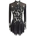 זול שמלות להחלקה על הקרח-שמלה להחלקה אמנותית בגדי ריקוד נשים / בנות החלקה על הקרח שמלות שחור ספנדקס ביגוד להחלקה על הקרח נצנצית שרוול ארוך החלקה אמנותית