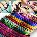 cheap Nail Glitter-24 pcs Foil Stripping Tape Abstract / Fashion Daily Nail Art Design