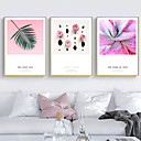 baratos Torneiras de Banheiro-Botânico Floral/Botânico Ilustração Arte de Parede,PVC Material com frame For Decoração para casa Arte Emoldurada Sala de Estar Quarto