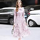 זול מגפי נשים-ברדס מותניים גבוהים תחרה, צבע אחיד - שמלה תחרה בגדי ריקוד נשים