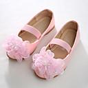 זול נעלי ילדות-בנות נעליים PU אביב חדשני / נעליים לילדת הפרחים שטוחות חרוזים / אפליקציות / סרט גומי ל לבן / ורוד / מסיבה וערב