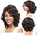 cheap Synthetic Capless Wigs-Synthetic Wig Curly / Deep Wave Synthetic Hair Natural Hairline Brown Wig Capless