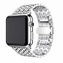 billige Innfelte LED-lys-Klokkerem til Apple Watch Series 4/3/2/1 Apple Klassisk spenne Rustfritt stål Håndleddsrem
