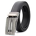 baratos Acessórios Masculinos-Homens Trabalho / Casual Cinto para a Cintura - Côr Pura Xadrez