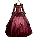 cheap RC Cars-Rococo Victorian Costume Women's Dress Red Vintage Cosplay Satin 3/4 Length Sleeve Puff / Balloon Sleeve Floor Length Long Length Halloween Costumes