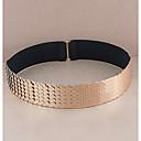 abordables Pulseras-Mujer Tejido Cinturón de Cintura - Activo Básico Un Color