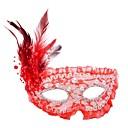 זול מסכות-מסיכת מסכות קלסי ורד / אדום / לבן פלסטיק אביזרי קוספליי האלווין (ליל כל הקדושים) / נשף מסכות תחפושות ליל כל הקדושים