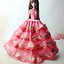 preiswerte Zubehör für Puppen-Prinzessin Kleider Für Barbie-Puppe Spitze Satin Kleid Für Mädchen Puppe Spielzeug
