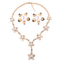 cheap Jewelry Sets-Women's Jewelry Set - Imitation Pearl Floral / Botanicals, Flower European, Fashion Include Gold For Wedding Party / Earrings