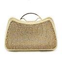 baratos Bolsas de Ombro-Mulheres Bolsas Poliéster Bolsa de Festa Detalhes em Cristal / Detalhes em Pérolas Dourado
