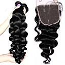 cheap One Pack Hair-3 Bundles with Closure Brazilian Hair Loose Wave 10A Virgin Human Hair Hair Weft with Closure Human Hair Weaves Human Hair Extensions