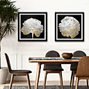 cheap Wall Stickers-Botanical Floral/Botanical Illustration Wall Art,PVC Material With Frame For Home Decoration Frame Art Living Room Bedroom Kitchen Dining