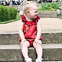 זול אוברולים טריים לתינוקות-תִינוֹק מקשה אחת One-pieces כותנה פשתן סיבי במבוק אקריליק אביב ללא שרוולים יומי אחיד בנות פשוט וינטאג' אודם