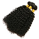 cheap Human Hair Wigs-3 Bundles Brazilian Hair Kinky Curly Human Hair Natural Color Hair Weaves 8-28 inch Human Hair Weaves Human Hair Extensions Women's