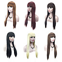 cheap LED Accessories-Synthetic Wig Straight Blonde With Bangs Synthetic Hair Natural Hairline Red / Black / Blonde Wig Women's Capless