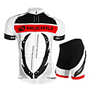 cheap PS4 Accessories-Nuckily Short Sleeves Cycling Jersey with Shorts - White Bike Shorts Jersey Clothing Suits, Waterproof, Ultraviolet Resistant,