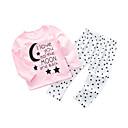 זול סטים של ביגוד לתינוקות-סט של בגדים כותנה שרוול ארוך אותיות פשוט / יום יומי בנות תִינוֹק