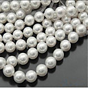 cheap Building Blocks-DIY Jewelry 46 pcs Beads Imitation Pearl White Round Bead 0.8 cm DIY Necklace Bracelet