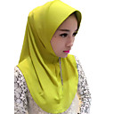 cheap Ethnic & Cultural Costumes-Fashion Headpiece Hijab / Khimar Abaya Beige Purple Yellow Green Pink Silk Cosplay Accessories