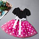 זול שמלות לבנות-שמלה שרוולים קצרים מנוקד ליציאה פשוט / פעיל בנות פעוטות / כותנה / חמוד