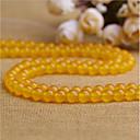 זול חרוזים-תכשיטים DIY 38 יח חרוזים קריסטל צהוב עגול חָרוּז 1 cm עשה זאת בעצמך שרשראות צמידים