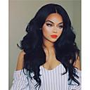 cheap Human Hair Wigs-Human Hair Glueless Full Lace / Full Lace Wig Brazilian Hair Natural Wave Wig Bob Haircut / Layered Haircut / With Bangs 130% Dark Roots / Natural Hairline / 100% Virgin Women's Medium Length Human
