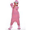 ieftine Pijamale Kigurumi-Pijama Kigurumi Chesire Cat Pisici Pijama Întreagă Costume Lână polară Fibră sintetică Roz Cosplay Pentru Sleepwear Pentru Animale Desen