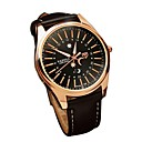 cheap Leather Band Watches-Men's Quartz Wrist Watch Japanese Casual Watch Genuine Leather Band Casual Fashion Black Brown