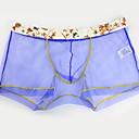 cheap Men's Earrings-Men's Briefs Underwear - Mesh, Solid Colored Mid Waist