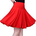 preiswerte Kleidung für Lateinamerikanischen Tanz-Latein-Tanz Unten Damen Training Baumwolle Gestuft Ärmellos Niedrig Röcke