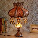 זול מנורות שולחן-גביש אומנותי דקורטיבי מנורת שולחן עבור חדר שינה מסדרון שרף 220V כתום