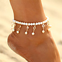 cheap Women's Athletic Shoes-Crystal Anklet - Pearl Drop Bohemian, Fashion, Boho Gold / Silver For Carnival / Bikini / Women's