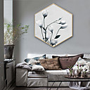 cheap Wall Stickers-Landscape Floral/Botanical Illustration Wall Art,Plastic Material With Frame For Home Decoration Frame Art Living Room Indoor