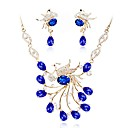 cheap Jewelry Sets-Women's Jewelry Set - Imitation Diamond Classic, Fashion Include Chain Necklace Blue For Wedding Daily