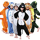 cheap Kigurumi Pajamas-Kid's Kigurumi Pajamas Giraffe Animal Onesie Pajamas Flannel Toison Brown / Green / Blue Cosplay For Boys and Girls Animal Sleepwear Cartoon Festival / Holiday Costumes