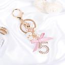 זול מזכרות מחזיקי מפתחות-חתונה / חברים / יומהולדת מצדדים במחזיק מפתחות אבן נוצצת / סגסוגת מזכרות מחזיקי מפתחות - 1 pcs כל העונות