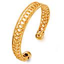 זול צמיד אופנתי-בגדי ריקוד נשים צמידי חפתים - ציפוי זהב אופנתי צמידים זהב עבור Party / מתנה