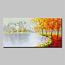 billige Lerretklokker-Hang malte oljemaleri Håndmalte - Abstrakt / Landskap Moderne Inkluder indre ramme / Stretched Canvas