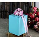 זול קופסאות למתנות ומזכרות-דמוי קוביה ברזל (ניקל מצופה) מחזיק לטובת עם רצועות קופסאות קישוט - 1pc