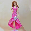 זול אביזרים לבובות-שמלות בחתיכה אחת ל ברבי דול אפרסק טֶקסטִיל / סטן אלסטי שמלה ל הילדה של בובת צעצוע