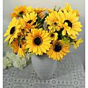 tanie Sztuczne kwiaty-Sztuczne Kwiaty 1 Gałąź Pasterski Styl Słoneczniki Bukiety na stół