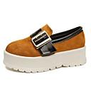 זול נעלי עקב לנשים-בגדי ריקוד נשים נעליים קשמיר אביב נוחות נעליים ללא שרוכים מטפסים שחור / בז' / חום